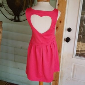Candie's Heart Back Dress Size Large